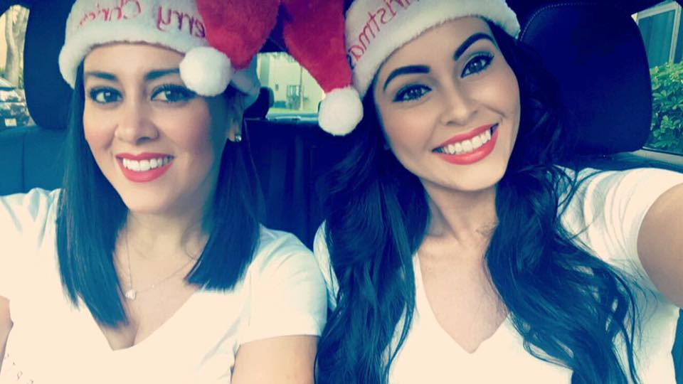 The OC sisters spreading holiday cheer to their clients.
