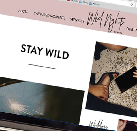 Wild Nights Events – Web Design & Development